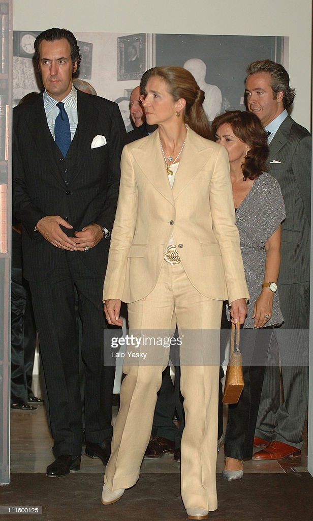 Elena of Spain and husband Jaime de Marichalar Preside over the Exhibition to Commemorate the 50th Anniversary of Pio Baroja's D