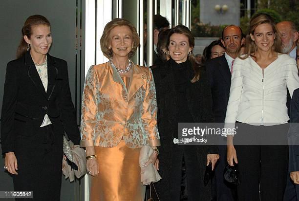 Elena of Spain Queen Sofia Cristina of Spain and Princess Letizia