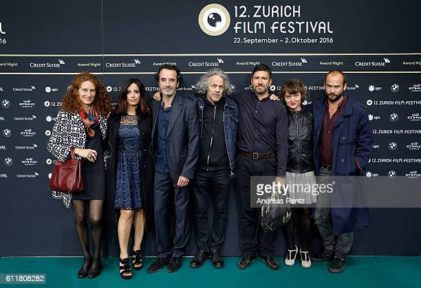 Elena Pedrazzoli Alessia Barela Bruno Todeschini Rolando Colla guest Linda Olsansky and Lorenz Merz attend the 'Sette Giorni' Photocall during the...