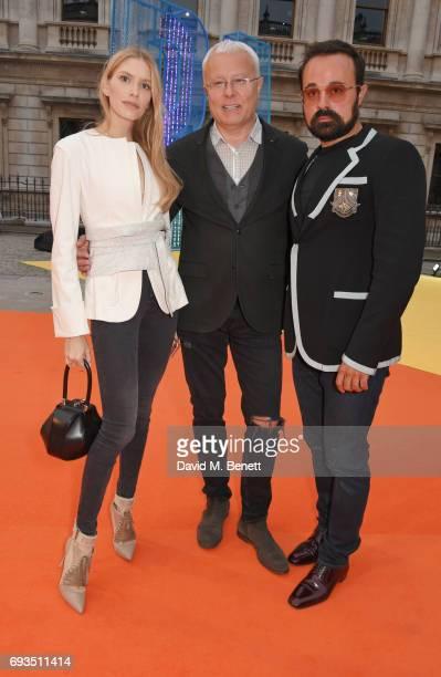 Elena Perminova Alexander Lebedev and Evgeny Lebedev attend the Royal Academy Of Arts Summer Exhibition preview party at Royal Academy of Arts on...