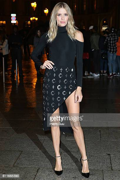 Elena Perminova arrives at Buro 24/7 Fashion Forward Initiative as part of Paris Fashion Week Womenswear Spring/Summer 2017 at Hotel Ritz on...