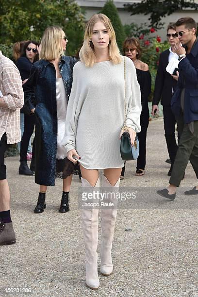 Elena Perminova arrives at Chloe during Paris Fashion Week Womenswear SS 2015 on September 28 2014 in Paris France