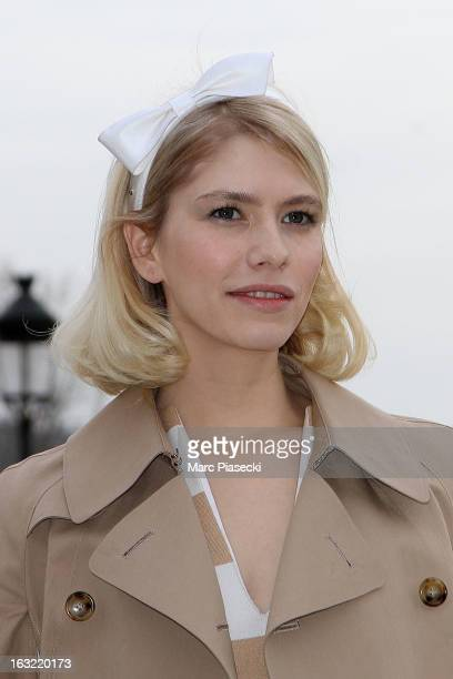 Elena Perminova arrives to attend the 'Louis Vuitton' Fall/Winter 2013 ReadytoWear show as part of Paris Fashion Week on March 6 2013 in Paris France