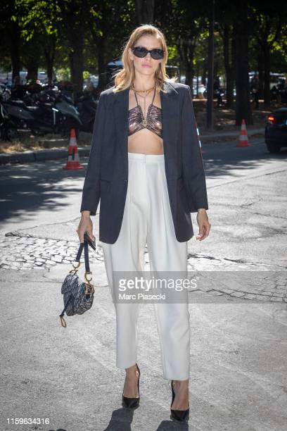 Elena Perminova attends the Alexandre Vauthier Haute Couture Fall/Winter 2019 2020 show as part of Paris Fashion Week on July 02 2019 in Paris France