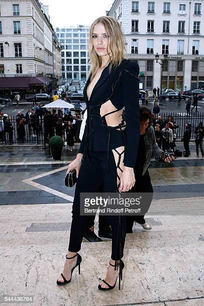 Elena Perminova attends the Atelier Versace Haute Couture Fall/Winter 20162017 show as part of Paris Fashion Week on July 3 2016 in Paris France