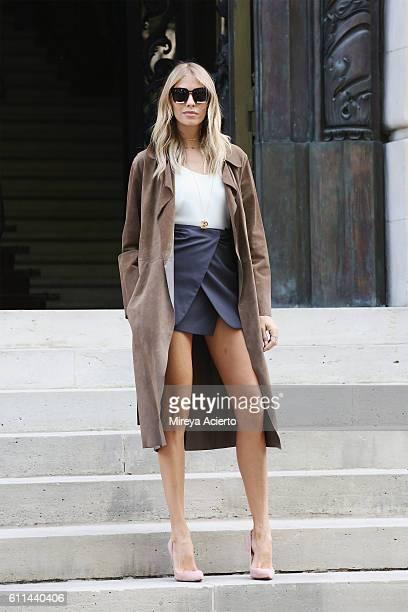 Elena Perminova attends the Balmain show as part of the Paris Fashion Week Womenswear Spring/Summer 2017 on September 29 2016 in Paris France