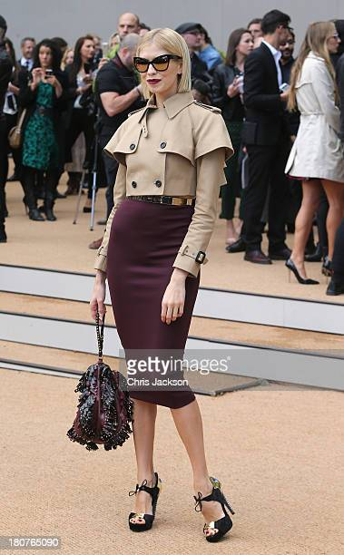 Elena Perminova attends the Burberry Prorsum show at London Fashion Week SS14 at on September 16 2013 in London England