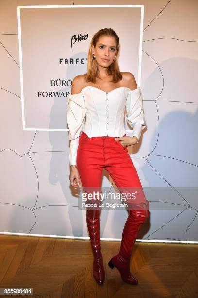 Elena Perminova attends the Buro 24/7 X Farfetch Fashion Forward Initiative as part of the Paris Fashion Week Womenswear Spring/Summer 2018 at Hotel...