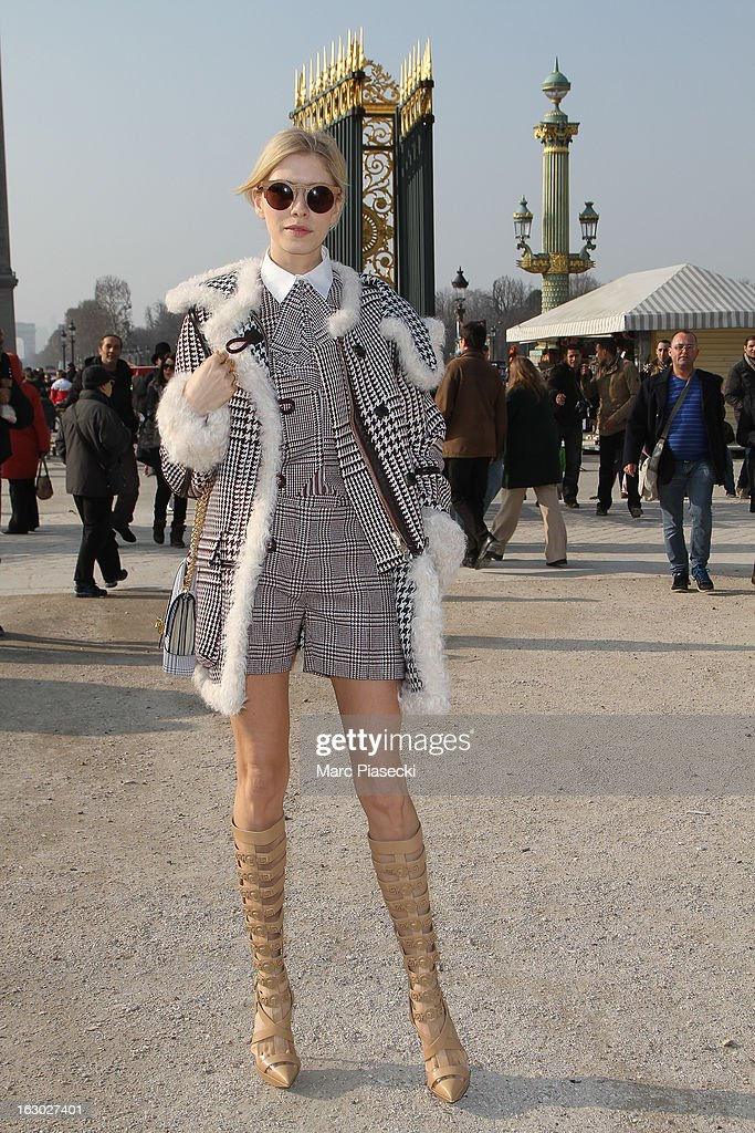 Elena Perminova attends the Chloe Fall/Winter 2013 Ready-to-Wear show as part of Paris Fashion Week on March 3, 2013 in Paris, France.