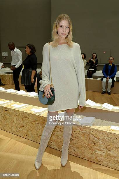 Elena Perminova attends the Chloe show as part of the Paris Fashion Week Womenswear Spring/Summer 2015 on September 28 2014 in Paris France