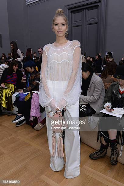 Elena Perminova attends the Chloe show as part of the Paris Fashion Week Womenswear Fall/Winter 2016/2017 on March 3 2016 in Paris France
