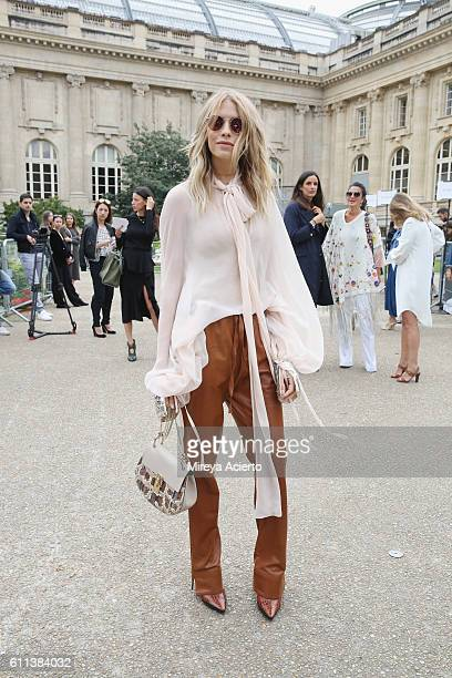 Elena Perminova attends the Chloe show as part of the Paris Fashion Week Womenswear Spring/Summer 2017 on September 29 2016 in Paris France