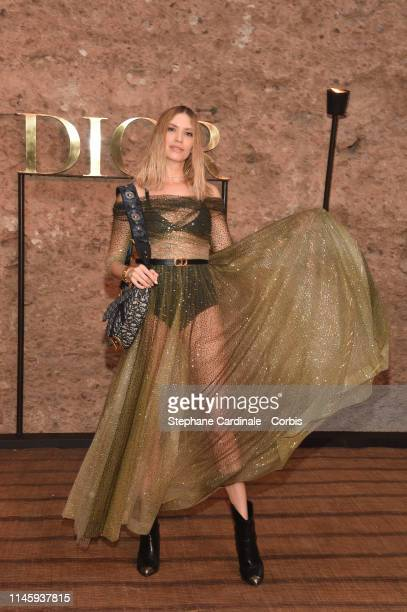 Elena Perminova attends the Christian Dior Couture S/S20 Cruise Collection on April 29 2019 in Marrakech Morocco