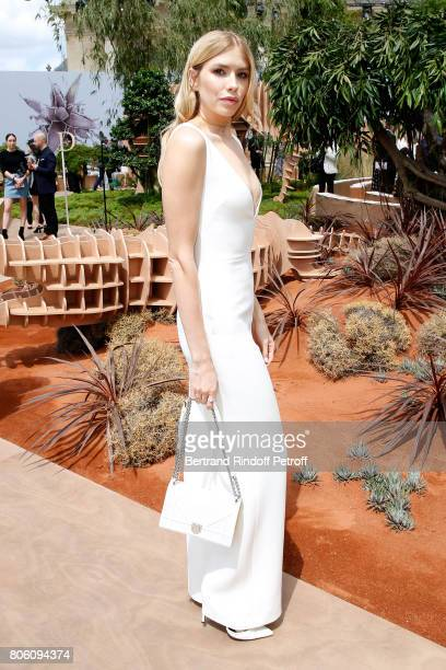 Elena Perminova attends the Christian Dior Haute Couture Fall/Winter 20172018 show as part of Haute Couture Paris Fashion Week on July 3 2017 in...
