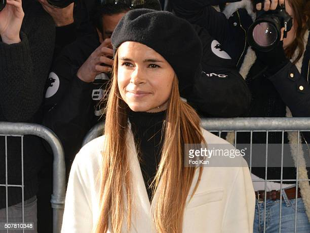 Elena Perminova attends the Christian Dior Haute Couture Spring Summer 2016 show as part of Paris Fashion Week on January 25 2016 in Paris France