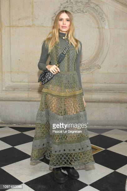 Elena Perminova attends the Christian Dior Haute Couture Spring Summer 2019 show as part of Paris Fashion Week on January 21 2019 in Paris France