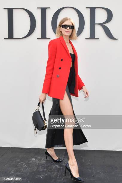 Elena Perminova attends the Christian Dior show as part of the Paris Fashion Week Womenswear Spring/Summer 2019 on September 24 2018 in Paris France