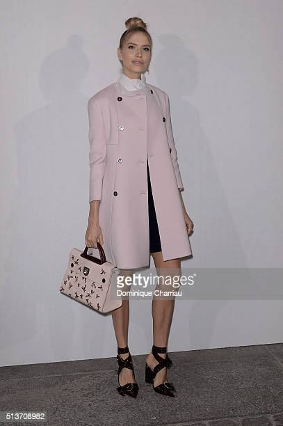 Elena Perminova attends the Christian Dior show as part of the Paris Fashion Week Womenswear Fall/Winter 2016/2017 on March 4 2016 in Paris France