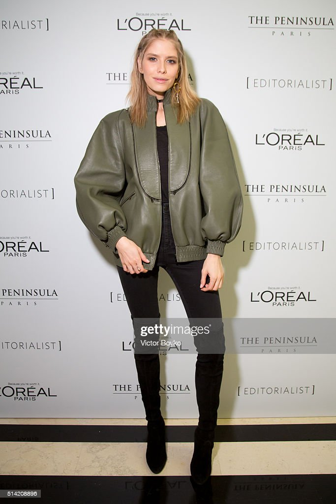 Elena Perminova attends the Editorialist Spring/Summer 2016 Issue Launch Party at the Hotel Peninsula as part of the Paris Fashion Week Womenswear Fall/Winter 2016/2017 on March 7, 2016 in Paris, France.