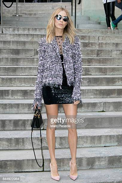 Elena Perminova attends the Giambattista Valli Haute Couture Fall/Winter 20162017 show as part of Paris Fashion Week on July 4 2016 in Paris France