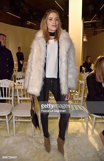Elena Perminova attends the Giambattista Valli Spring Summer 2016 show as part of Paris Fashion Week on January 25 2016 in Paris France