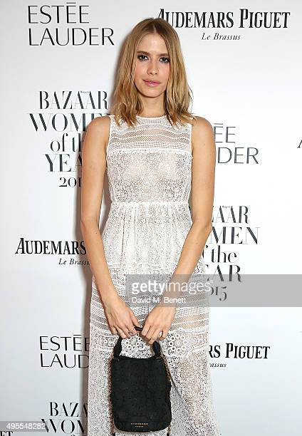 Elena Perminova attends the Harper's Bazaar Women of the Year Awards 2015 at Claridges Hotel on November 3 2015 in London England