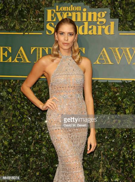 Elena Perminova attends the London Evening Standard Theatre Awards at Theatre Royal on December 3 2017 in London England