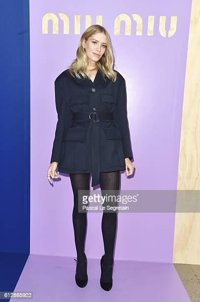 Elena Perminova attends the Miu Miu show as part of the Paris Fashion Week Womenswear Spring/Summer 2017 on October 5 2016 in Paris France