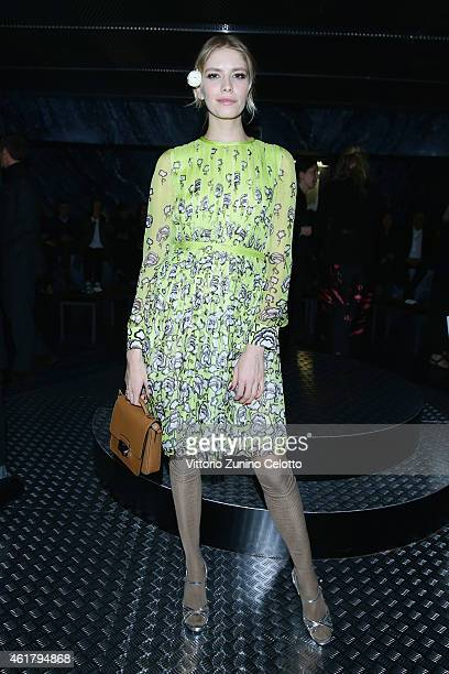 Elena Perminova attends the Prada Journal Event during the Milan Menswear Fashion Week Fall Winter 2015/2016 on January 19 2015 in Milan Italy