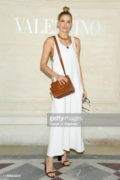 Elena Perminova attends the Valentino Haute Couture Fall/Winter 2019 2020 show as part of Paris Fashion Week on July 03 2019 in Paris France