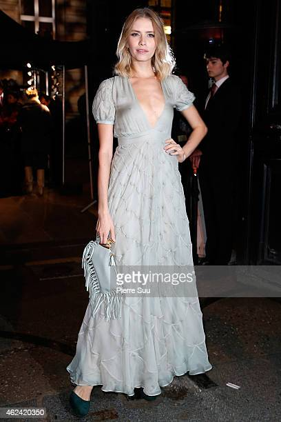 Elena Perminova attends the Valentino show as part of Paris Fashion Week Haute Couture Spring/Summer 2015 on January 28 2015 in Paris France