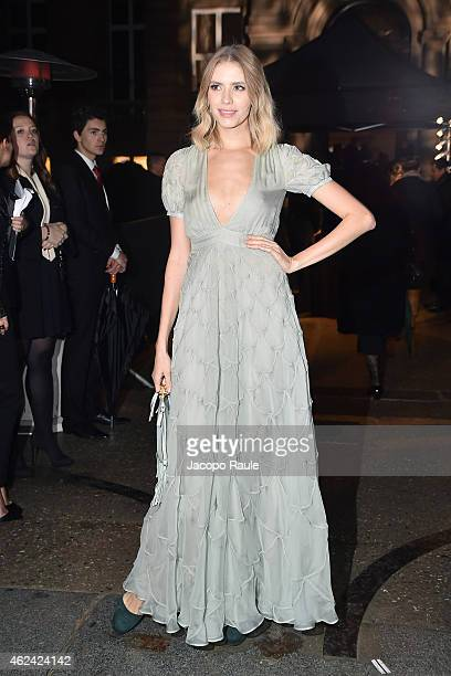 Elena Perminova attends the Valentino show as part of Paris Fashion Week Haute Couture Spring/Summer 201 on January 28 2015 in Paris France