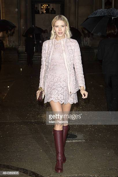 Elena Perminova attends the Valentino show as part of Paris Fashion Week Haute Couture Spring/Summer 2014 on January 22 2014 in Paris France