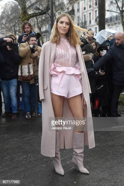 Elena Perminova attends the Valentino show as part of the Paris Fashion Week Womenswear Fall/Winter 2018/2019 on March 4 2018 in Paris France