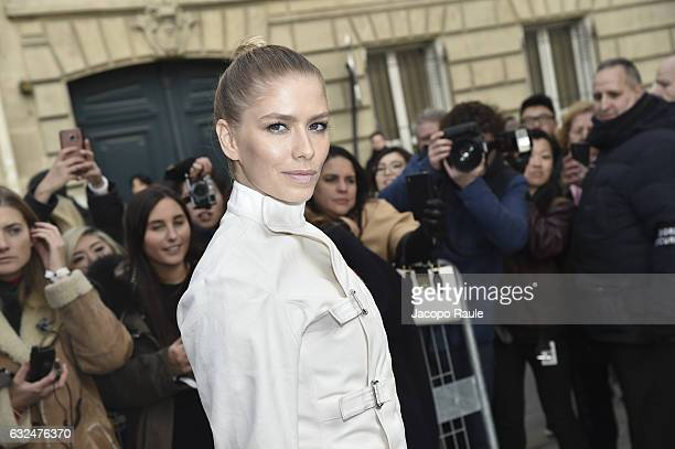 Elena Perminova is seen arriving at Dior Fashion show during Paris Fashion Week Haute Couture F/W 20172018 on January 23 2017 in Paris France