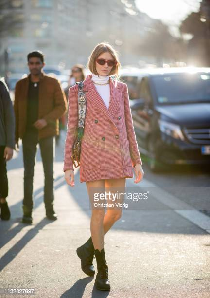 Elena Perminova is seen outside Rochas during Paris Fashion Week Womenswear Fall/Winter 2019/2020 on February 27 2019 in Paris France
