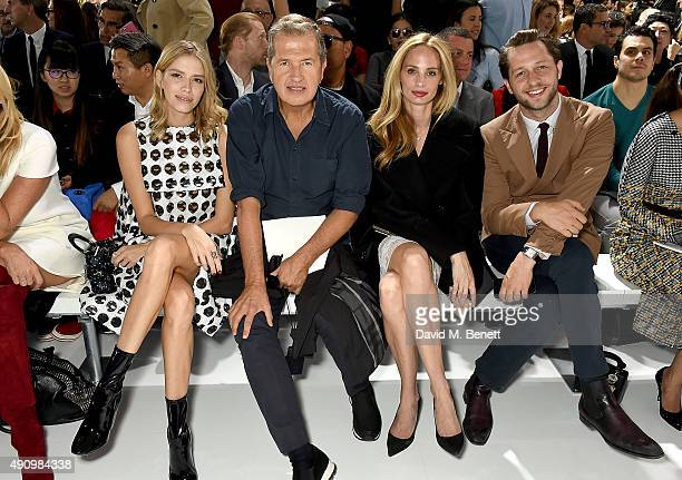 Elena Perminova Mario Testino Lauren Santo Domingo and Derek Blasberg attends the Christian Dior show as part of the Paris Fashion Week Womenswear...