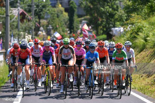 Elena Pirrone of Italy and Valcar Cylance Cycling Team / Francesca Cauz of Italy and Team Servetto Piumate Beltrami TSA / Katarzyna Niewiadoma of...
