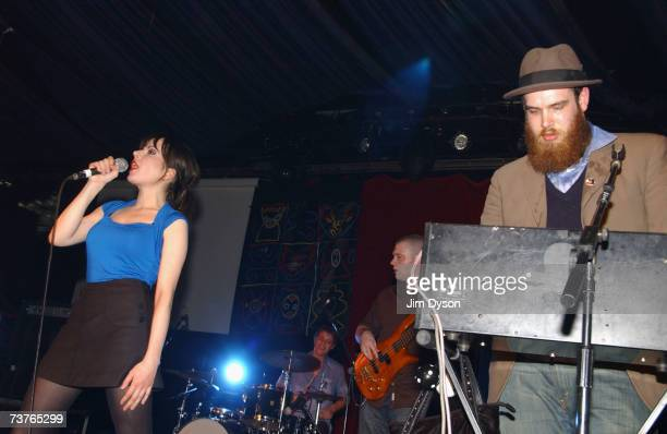 Elena Poulou Orpheo McCord Dave Spurr and Robert Barbato of The Fall perform at the Hammersmith Palais on April 1 2007 in London This was the last...