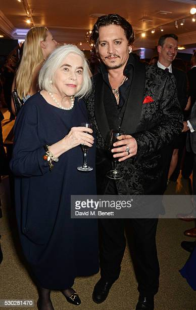 Elena Propper de Callejon mother of Helena Bonham Carter and Johnny Depp attend Fortnum Mason's postpremiere party for new release Alice Through the...