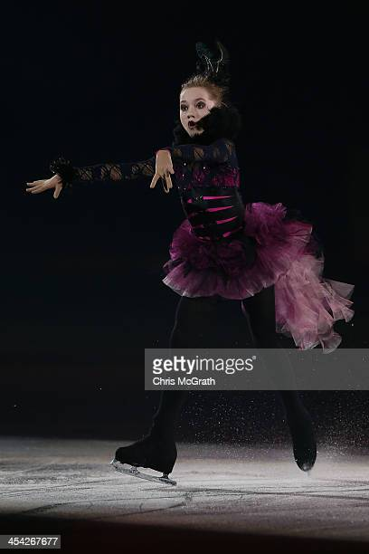 Elena Radinova of Russia performs her routine in the ISU Gala during day four of the ISU Grand Prix of Figure Skating Final 2013/2014 at Marine Messe...