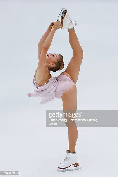 Elena Radionova of Russia compete in the Ladies Free skating on day two of Audi Cup of China ISU Grand Prix of Figure Skating 2016 at Beijing Capital...