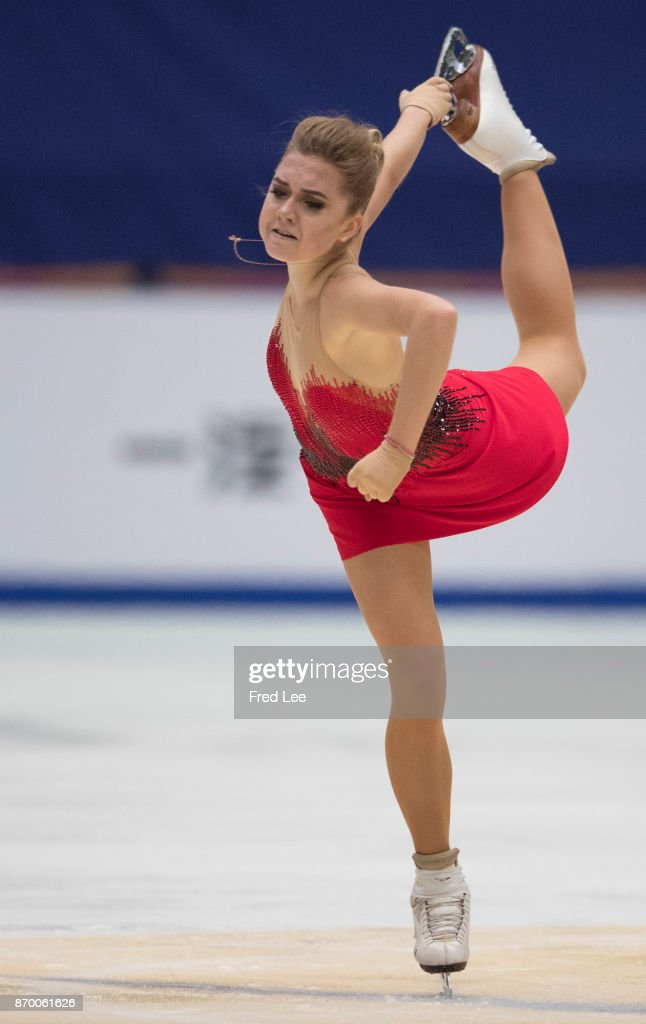Elena Radionova of Russia compete in the Ladies Free Skating on day two of Audi Cup of China ISU Grand Prix of Figure Skating 2017 at Beijing Capital Gymnasium on November 4, 2017 in Beijing, China.