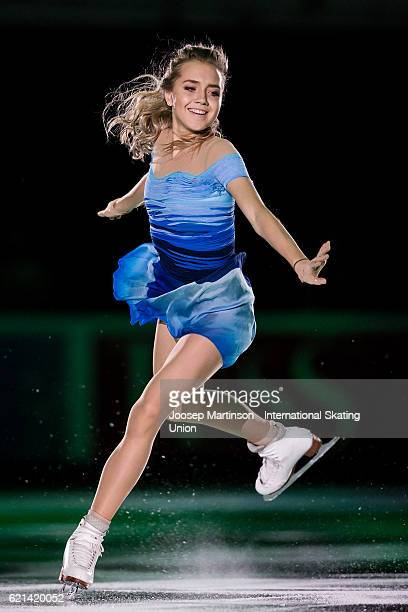 Elena Radionova of Russia performs during gala exhibition on day three of the Rostelecom Cup ISU Grand Prix of Figure Skating at Megasport Ice Palace...