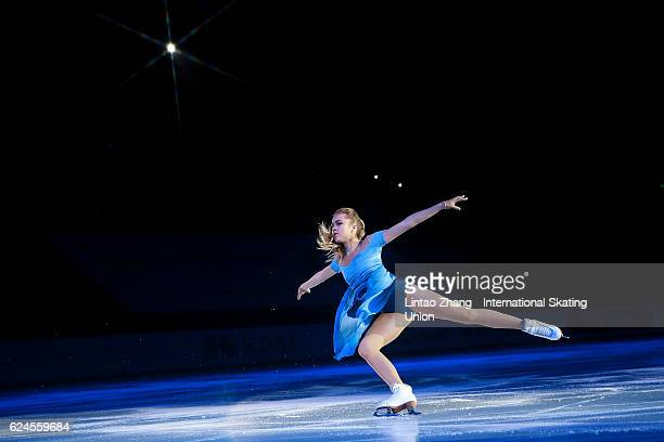 Elena Radionova of Russia performs during the Exhibition Program on day three of Audi Cup of China ISU Grand Prix of Figure Skating 2016 at Beijing...