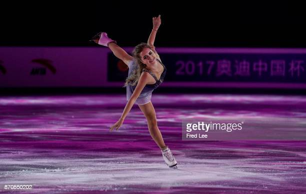 Elena Radionova of Russia performs during the Exhibition Program on day three of Audi Cup of China ISU Grand Prix of Figure Skating 2017 at Beijing...