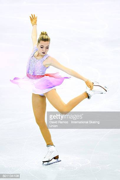 Elena Radionova of Russia performs during the Ladies Free program during day three of the ISU Grand Prix of Figure Skating Final 2015/2016 at the...