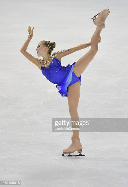 Elena Radionova of Russia skates to win Gold in the Ladies Free Skate program during day two of Trophee Eric Bompard ISU Grand Prix of Figure Skating...