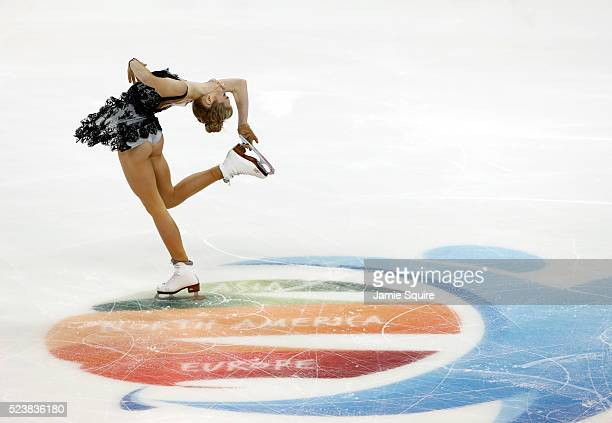 Elena Radionova of Team Europe competes in the Ladies Free Program on day 2 of the 2016 KOSE Team Challenge Cup at Spokane Arena on April 23 2016 in...
