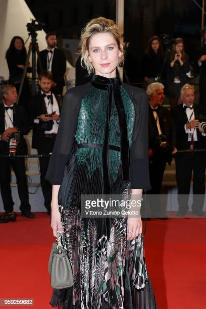 Elena Radonicich attends the screening of 'Dogman' during the 71st annual Cannes Film Festival at Palais des Festivals on May 16 2018 in Cannes France